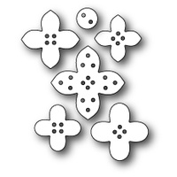 Memory Box Die Plush Flower Buttons 99412