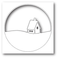 Memory Box Die Stitched Circle Cabin 99852