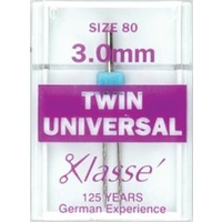 Klasse Universal Twin Needles 3.0mm Size 80/12