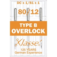 Klasse Machine Overlocker Needles Type B (DCx1, 81x1) Size 80/12