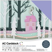American Crafts 12x12 CARDSTOCK 60 Sheets 216gsm Winter