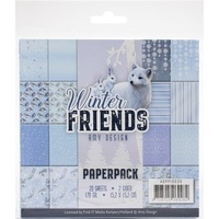 Find It Trading Amy Design Paper Pack 6x6 Winter Friends