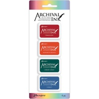 Archival Mini Ink Pad (Kit 1) AIMK57673 4 Colours