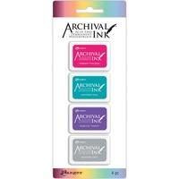 Archival Mini Ink Pad (Kit 4) 4 Colours