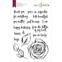 Altenew Inked Rose Stamp Set