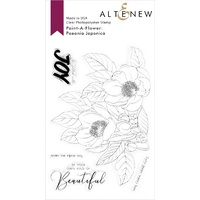 Altenew Paint-A-Flower Paeonia Japonica Outline Stamp Set ALT4290