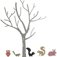 Cheery Lynn Designs B370 Birch Tree with Cute Critters
