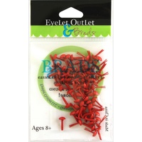 Eyelet Outlet Round Brads 4mm 70/Pkg Red