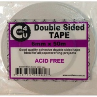 Crafts4U Double Sided Tape 6mm x 50m Roll