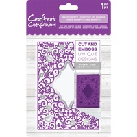 Crafter's Companion Cut and Emboss Folder 4.25 x 5.5 Heart Confetti