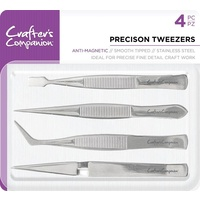 Crafter's Companion Precision Tweezers 4pk