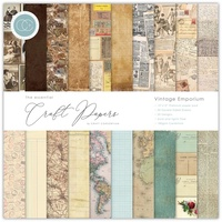 Craft Consortium Double-Sided Paper Pad 12X12 30/Pkg Vintage Emporium
