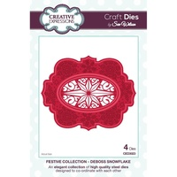 Sue Wilson Dies Festive Collection Deboss Snowflake CED3023