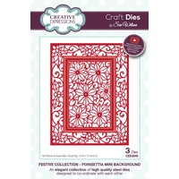 Sue Wilson Dies Festive Collection Poinsettia Mini Background CED3049