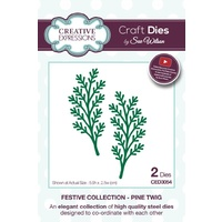 Sue Wilson Dies Festive Collection Pine Twig CED3054