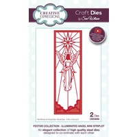 Sue Wilson Dies Festive Collection Illuminated Angel Mini Striplet CED3059