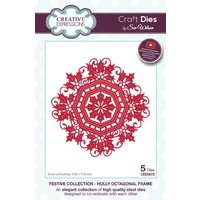 Sue Wilson Dies Festive Collection Holly Octagonal Frame CED3072
