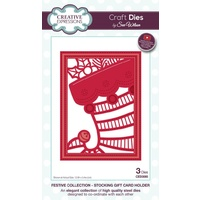 Sue Wilson Dies Festive Collection Stocking Gift Card Holder CED3085