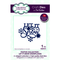 Sue Wilson Dies Festive Collection Let It Snow Snowflakes CED3101