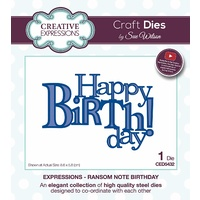 Sue Wilson Dies Expressions Collection Ransom Note Birthday Die CED5432