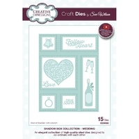 Sue Wilson Dies Shadow Boxes Collection Wedding CED9302