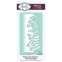 Paper Cuts Collection Wild Rose Edger CEDPC1040