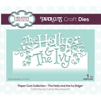 Paper Cuts Collection Die The Holly and the Ivy Edger CEDPC1087