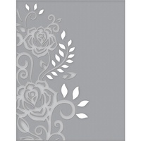 Spellbinders Cut and Emboss Folders Rose Flourish CEF-003