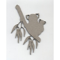 Chipboard Aussie Collection Koala and Baby Joey on Branch