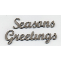 Chipboard Sentiments Collection Small Seasons Greetings