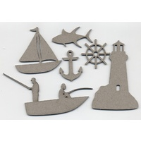 Chipboard Summer Collection Nautical Set 1
