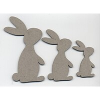 Chipboard Easter Collection Standing Bunny Set