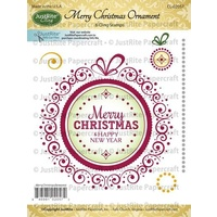 Justrite Stamp Merry Christmas Ornament