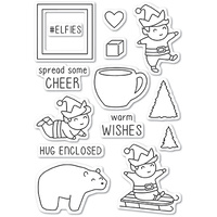 Memory Box Stamp Playtime Elves clear stamp set CL5216