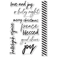 Memory Box Stamp Bold Christmas Greetings CL5233
