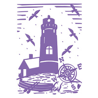 Couture Creations Embossing Folder 5x7 Harmony Collection Lighthouse