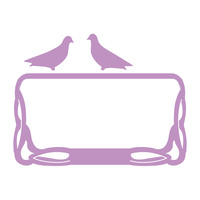 Couture Creations Dies Secret Garden Pigeons on a Frame