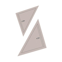 Couture Creations Quilt Essentials Die Half Square Triangle 3.5in + 4.5in