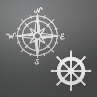 Couture Creations Dies Decorative Compass And Wheel