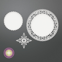 Couture Creations Dies Be Merry North Star Doily Set