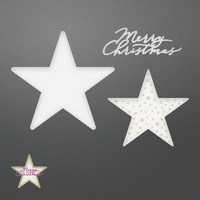 Couture Creations Dies Be Merry Merry Layered Stars Set
