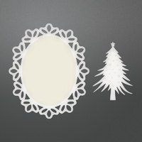Couture Creations Dies Be Merry Framed Christmas Tree Doily Set