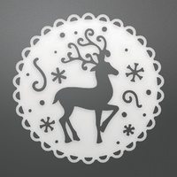 Couture Creations Die Reindeer Medallion Decorative Die