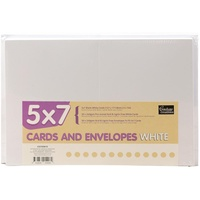 50 White A7 Cards and Envelopes 5x7 240gsm