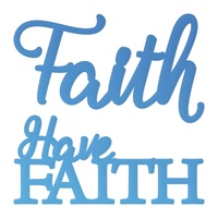 Couture Creations Mini Die Release 2 Have Faith Sentiment 2pc