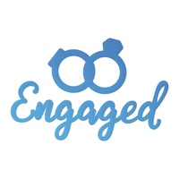 Couture Creations Mini Die Release 2 Engaged Sentiment & Rings 2pc