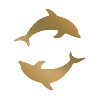 Anna Griffin Hotfoil Mini Stamp Dolphins