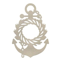 Chipboard Seaside & Me Wreathed Anchor