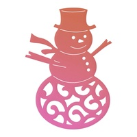 Couture Creations Mini Die Highland Christmas Filigree Snowman