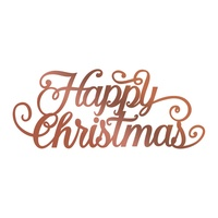 Couture Creations Hotfoil Stamp Highland Christmas - Happy Christmas Flourish (1pc)